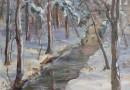 Emilie Maguerite Ackermann – Winter Scene With Forest Brook (Sold)