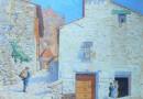 Mariano Félez Bentura – Street Scene in a South European Town (Sold)