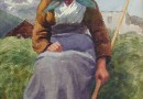 Emil Beurman – Farmer's Wife with a Rake (Sold)