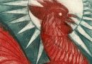 Red Rooster – Art Engraving by Maïte Bournoud-Schorp