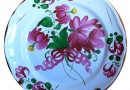 Antique Plate with Flowers from Eastern France