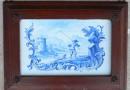Blue and White Ceramic Tile from an 18th Century Oven – Johann Jakob Hofmann