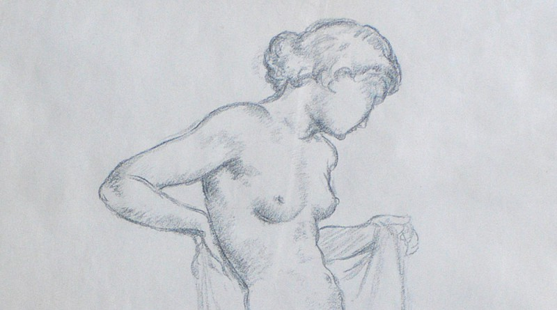 Gustave Francois Barraud - Standing Nude