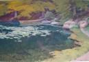 Christian Baumgartner – Original Pond and Fishing Boat (Sold)