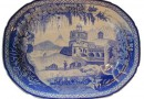 Blue and White Platter – 19th Century