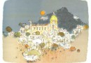 Marco Richterich – Positano on the Amalfi Coast – Original Lithograph (Sold)