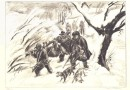 Charles Clément – The Boar Hunt – Orig. Lithograph