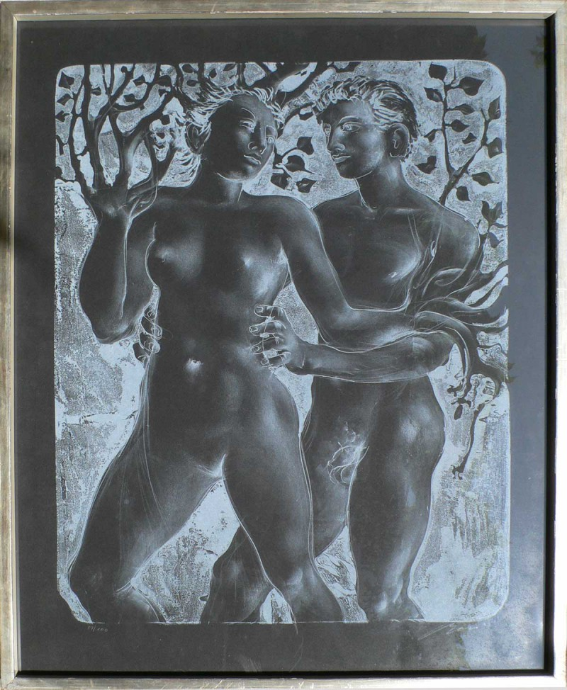 Daphne and Apollo by Hans Erni