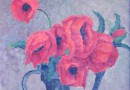 Werner Engel – Poppies in a Pewter Pot