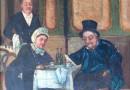 Naive Painting – Restaurant Scene – The Bill Arrives!