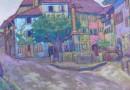 Ferdinand Henri Maire: Street Scene in Auvernier 1930 (Sold)