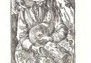 """""""Odin"""" – Original Linocut"""