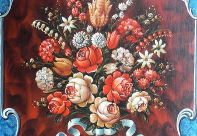 Werner Schmutz – Floral Composition – Swiss Folk Art Motif
