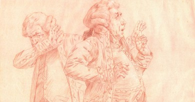 Cristobal de Antonio – Les Precieux – Original Sanguine Drawing