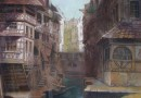 19th Century Dutch Canal Scene – Original Pastel