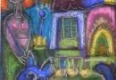 Louis Marchand des Raux – The Blue Cat (Sold)