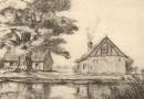 Farm in Normandy – Etching by Friedrich Johannes Grunder