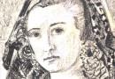Ernst Georg Heussler – Girl in a Mantilla – Original Drawing
