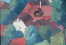 Red Rooftops – Original Oil on Canvas by Arne Siegfried dated 1927