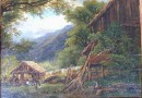 19th or Early 20th Century Alpine Landscape – Swiss (Sold)