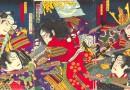Chikanobu – Japanese Woodblock – Samurai Battle (Sold)