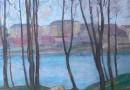 Joseph Favre – Geneva Landscape – River Landscape (Sold)