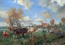 Dutch Landscape – Early 20th Century – Cattle at Pasture (Sold)