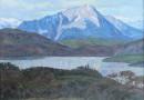 Hanna Elisabeth Kocher – Stanserhorn and Vierwaltstaettersee Seen from Sonnmatt – Original Oil Painting