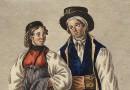 Watercolor – Costumes of Bern