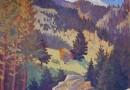Matterhorn and Findelnbach (Sold)  Original 1930 Oil