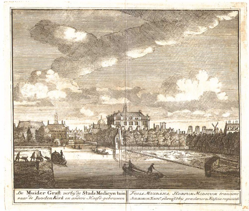 Muider Antique Engraving of Amsterdam