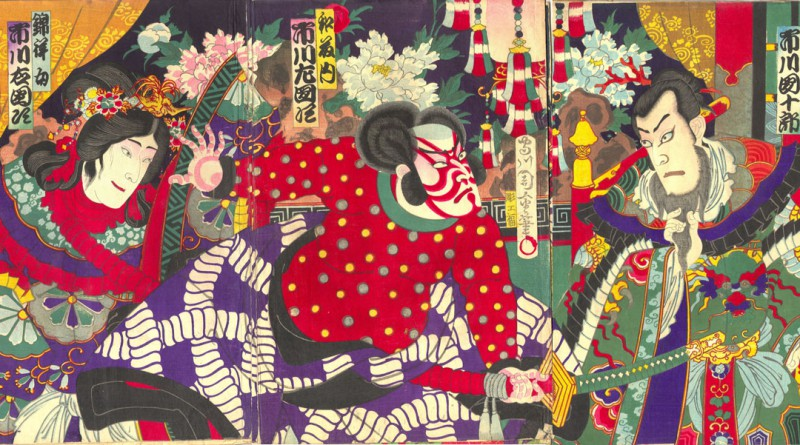 Chikanobu – Japanese Woodblock – Samurai Battle