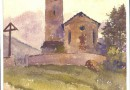 Phlippe Ernest Recordon The Church at Lenz in the Swiss Grisons (Sold)