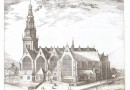 Oude Kerk: Striking 17th Century Engraving of Amsterdam's Oldest Building