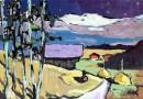 Robert Schneider – Expressionist Landscape (Sold)