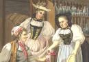 Joseph Reinhardt – Antique Swiss Engraving – The Wine Mistresses of Bern (Sold)