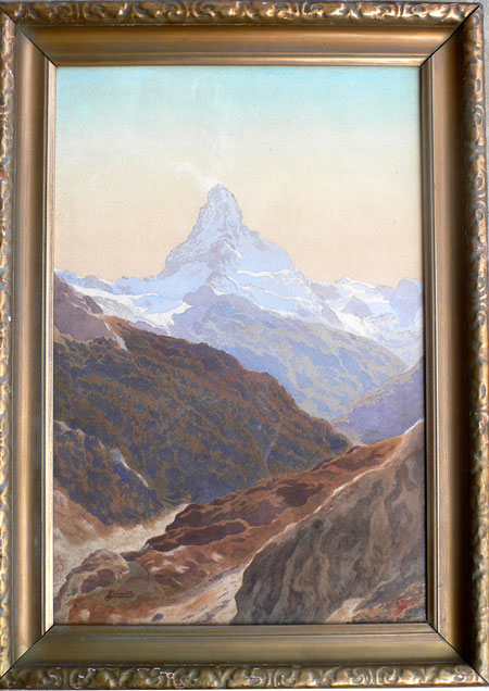 Leonhard Steiner The Matterhorn Le Cervin Watercolor