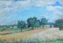 Attributed to Conrad Strasser, Summer Landscape (Sold)