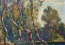 Hendrik Van Bloem – Landscape with Birches (SOLD)