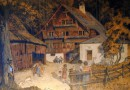 Idyllic Scene in Front of a  German Chalet – The Ages of Man (Sold)