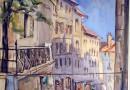 Geneva Old Town Scene – Rue du Perron – Original Watercolor (Sold)