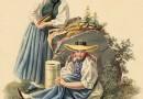Tratidional Costumes of Oberhasli – Antique Print