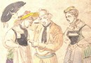 Joseph Reinhardt – Traditional Costumes of Lucerne – Watercolor Sketch (Sold)