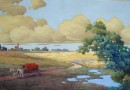 Hans Schwarzenberger – Landscape with Covered Wagon (Sold)