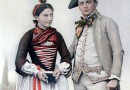 Swiss Bride and Groom from the Valais Region – Chromolithograph