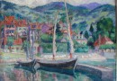 The Port of Vevey – Original Oil Painting (Sold)