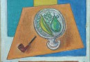 Pierre Gartier – Still Life with Pear, Banana and Pipe