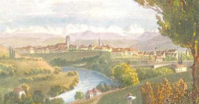 Antique Print of Bern, Switzerland