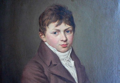 Biedermeier Portrait – Young Gentleman holding a Paintbrush