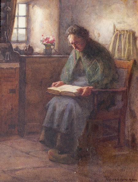 Henry John Dobson Original Watercolor Elderly